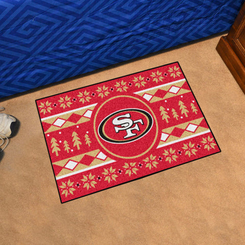 NFL San Francisco 49ers CHRISTMAS SWEATER Starter Rug - Bed, Bath, And My Team