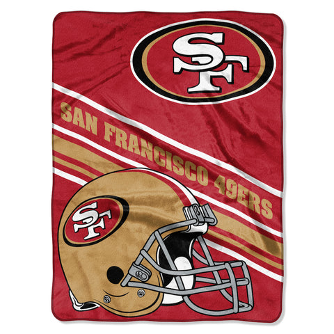 NFL San Francisco 49ers 60 x 80 Large Plush Raschel Throw Blanket - Bed, Bath, And My Team
