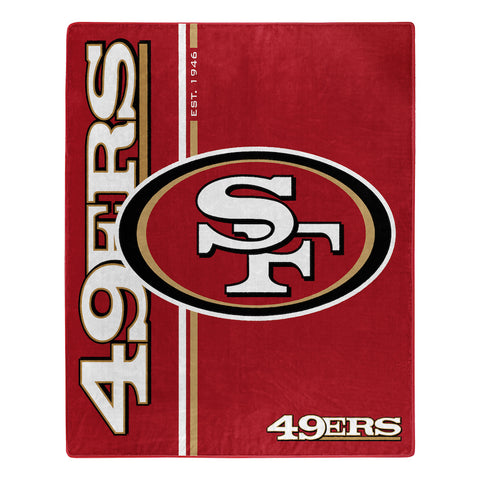 NFL San Francisco 49ers 50 x 60 Jersey Raschel Throw Blanket - Bed, Bath, And My Team