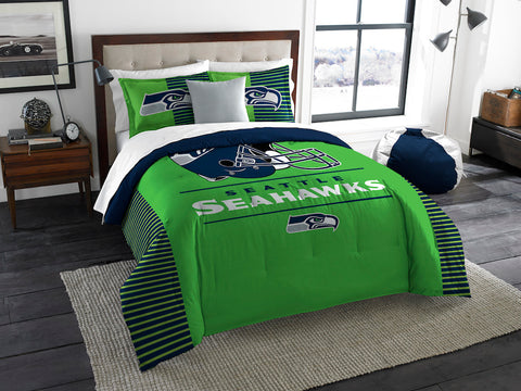 Seattle Seahawks king comforter and shams