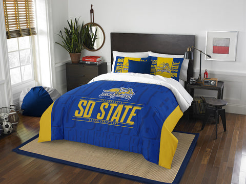 South Dakota State Jackrabbits queen/full comforter and 2 shams