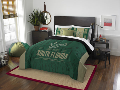 South Florida Bulls queen/full comforter and 2 shams