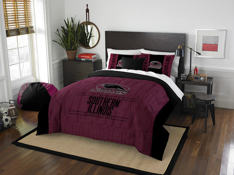 Southern Illinois Salukis queen/full comforter and 2 shams
