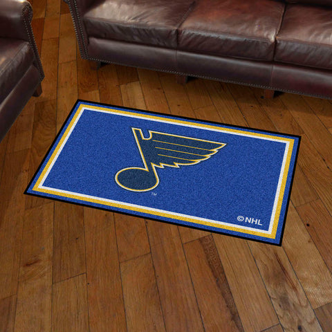 NHL St. Louis Blues 3 X 5 Ft. Plush Area Rug - Bed, Bath, And My Team