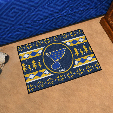 NHL St. Louis Blues CHRISTMAS SWEATER Starter Rug - Bed, Bath, And My Team