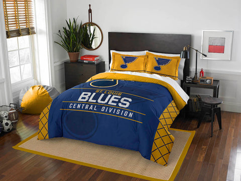 NHL St. Louis Blues Queen/Full Comforter and Sham Set - Bed, Bath, And My Team