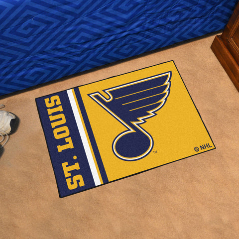 NHL St. Louis Blues Uniform Inspired STARTER Rug - Bed, Bath, And My Team