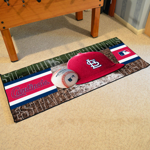St. Louis Cardinals Baseball Logo Carpet Runner Rug