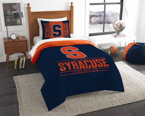 Syracuse Orange twin comforter and pillow sham
