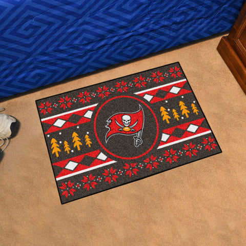 NFL Tampa Bay Buccaneers CHRISTMAS SWEATER Starter Rug - Bed, Bath, And My Team