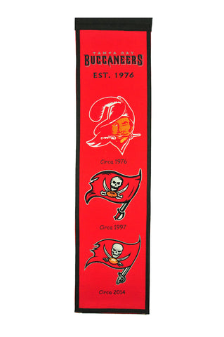 NFL Tampa Bay Buccaneers HERITAGE Hanging Wool Banner - Bed, Bath, And My Team
