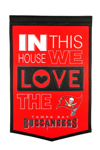 NFL Tampa Bay Buccaneers HOME Hanging Wool Banner - Bed, Bath, And My Team