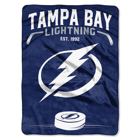NHL Tampa Bay Lightning 60 x 80 Large Plush Raschel Throw Blanket - Bed, Bath, And My Team