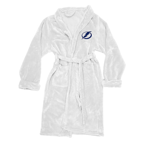 NHL Tampa Bay Lightning Silk Touch Mens Bath Robe (LG/XL) - Bed, Bath, And My Team