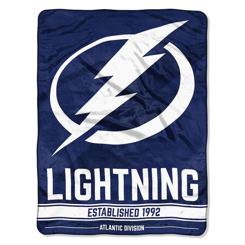 NHL Tampa Bay Lightning Micro Raschel Throw - Bed, Bath, And My Team