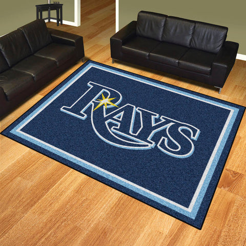 Tampa Bay Rays 8 x 10 area rug