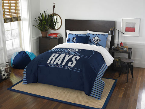 Tampa Bay Rays queen/full comforter and 2 shams