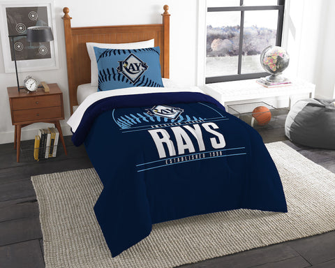 Tampa Bay Rays twin comforter and pillow sham