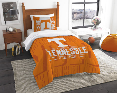 Tennessee Volunteers twin comforter and pillow sham