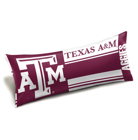 NCAA Texas A&M Aggies King Size Body Pillow - Bed, Bath, And My Team