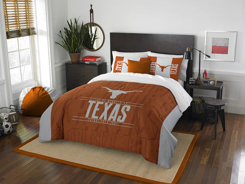 NCAA Texas Longhorns Queen/Full Comforter and Sham Set - Bed, Bath, And My Team