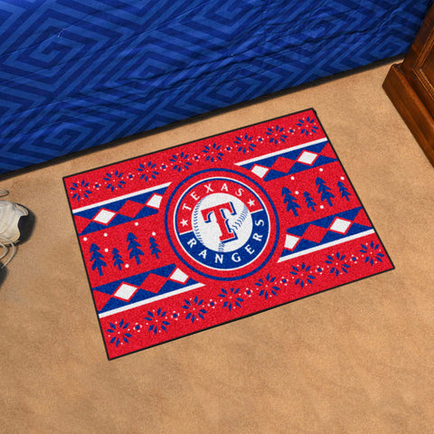 Texas Rangers Holiday Sweater Rug