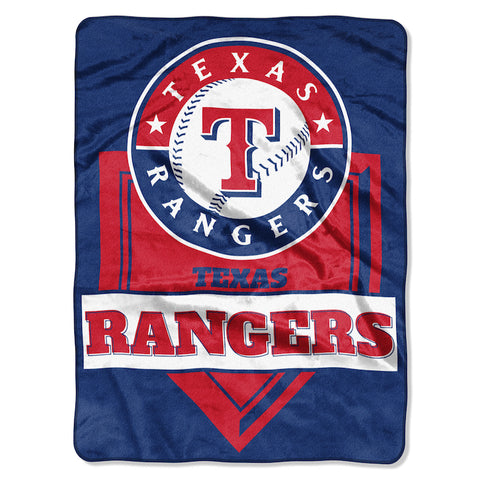 Texas Rangers large plush blanket