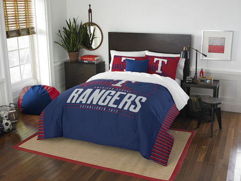 Texas Rangers queen/full comforter and 2 shams