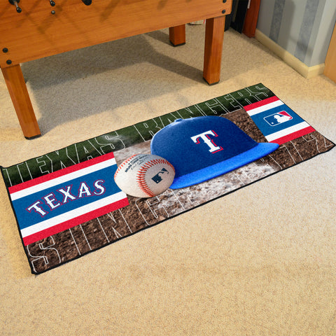 Texas Rangers Baseball Logo Carpet Runner Rug