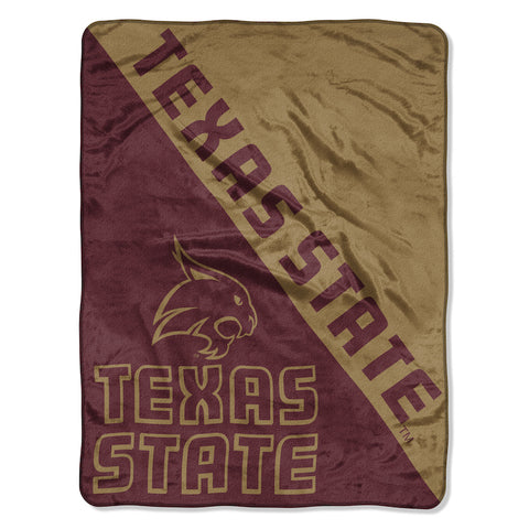 NCAA Texas State Bobcats Micro Raschel Throw - Bed, Bath, And My Team
