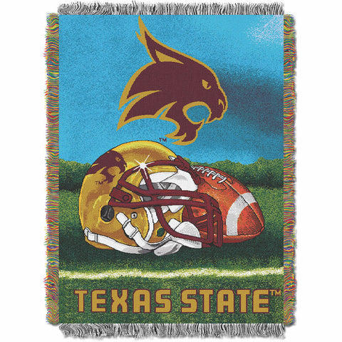 NCAA Texas State Bobcats HOME FIELD ADVANTAGE Tapestry - Bed, Bath, And My Team