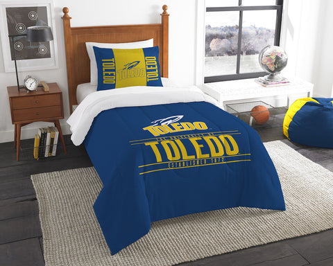 Toledo Rockets twin comforter and pillow sham