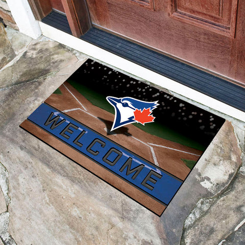 MLB Toronto Blue Jays Recycled Rubber CRUMB Doormat - Bed, Bath, And My Team