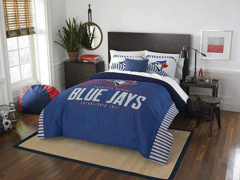 MLB Toronto Blue Jays Queen/Full Comforter and Sham Set - Bed, Bath, And My Team
