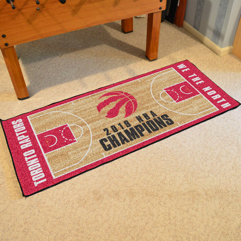 NBA Toronto Raptors 2018-19 Finals Champions LARGE Basketball Court Carpet Runner Rug - Bed, Bath, And My Team
