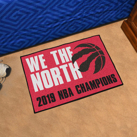 NBA Toronto Raptors 2018-19 Finals Champions STARTER Rug - Bed, Bath, And My Team