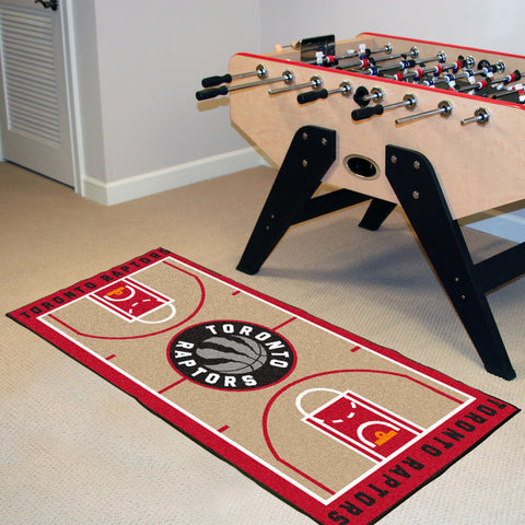 NBA Toronto Raptors Basketball Court Carpet Runner Rug - Bed, Bath, And My Team