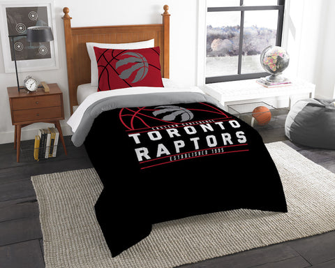 NBA Toronto Raptors Twin Comforter and Pillow Sham - Bed, Bath, And My Team
