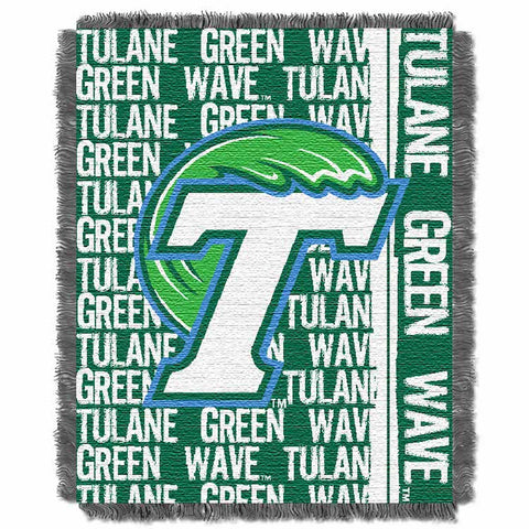 Tulane Green Wave Woven Tapestry