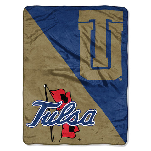 Tulsa Golden Hurricane Micro Raschel Throw