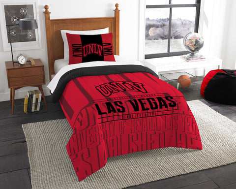 UNLV Rebels twin comforter and pillow sham