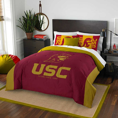 USC Trojans queen/full comforter and 2 shams