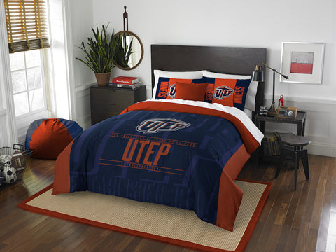 UTEP Miners queen/full comforter and 2 shams