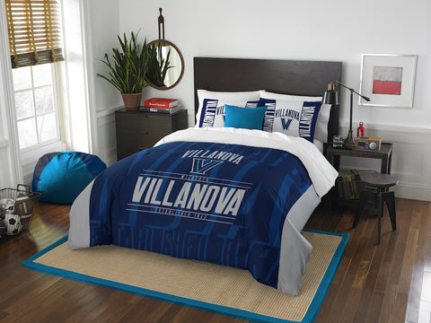Villanova Wildcats queen/full comforter and 2 shams