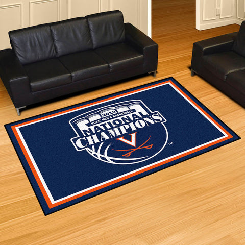 Virginia Cavaliers NCAA Basketball Champions 5 x 8 area rug