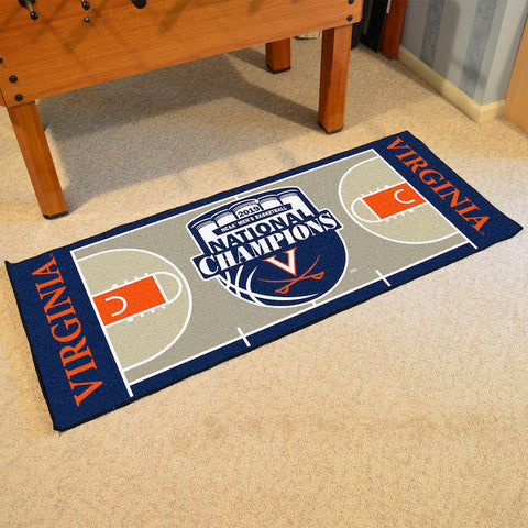 Virginia Cavaliers NCAA Basketball Champions Carpet Runner Rug