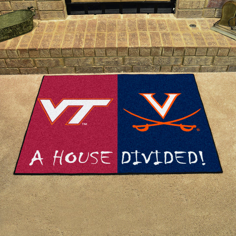 Virginia Tech Hokies Virginia Cavaliers Rivalry Rug