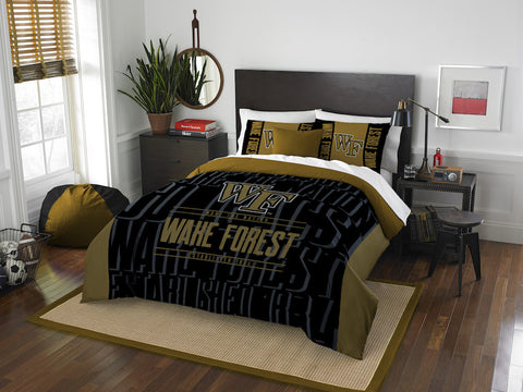 Wake Forest Demon Deacons queen/full comforter and 2 shams