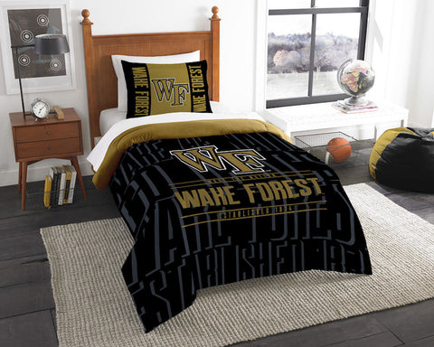 Wake Forest Demon Deacons twin comforter and pillow sham