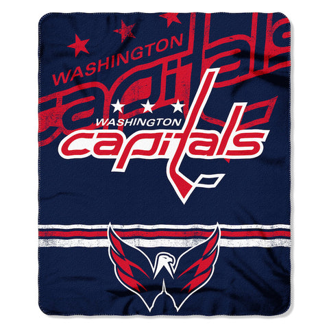 NHL Washington Capitals Fleece Throw ~ 50 x 60 - Bed, Bath, And My Team